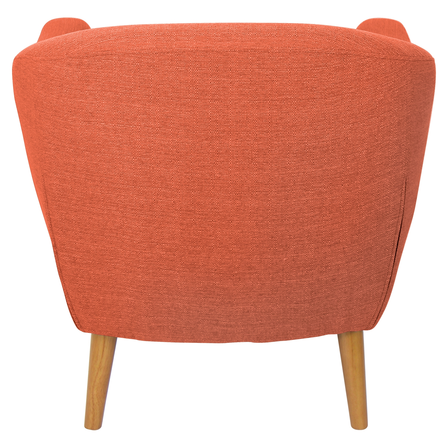 Rockwell Upholstery Armchair - Button Tufted, Orange - LMS-CHR-AH-RKWL-OR