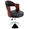 Cello Adjustable Chair in Cherry Wood with Black Seat - LMS-CHR-CLO-CH-BK