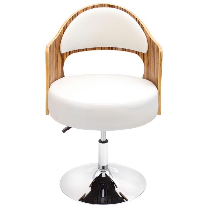 Cello Adjustable Height Chair Swivel Zebra Wood Dcg