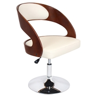 Pino Height Adjustable Chair - Swivel, Cream, Cherry