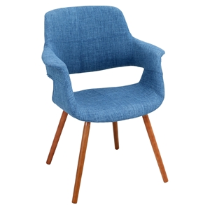 Vintage Flair Chair - Walnut, Blue