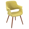 Vintage Flair Chair - Walnut, Green - LMS-CHR-JY-VFL-GN