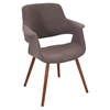 Vintage Flair Chair - Walnut, Medium Brown - LMS-CHR-JY-VFL-MBN