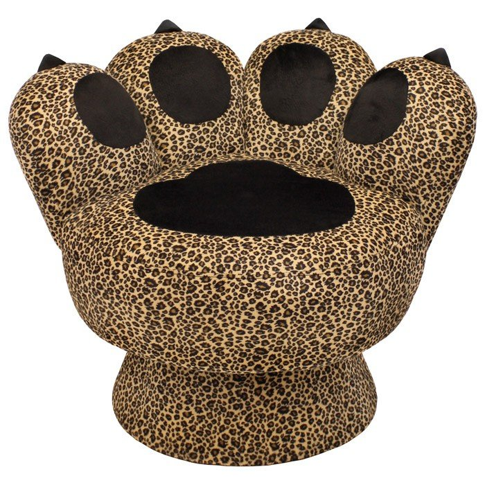 Paw Lounge Chair with Leopard Prints | DCG Stores