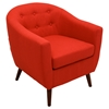 Rockwell Upholstery Armchair - Button Tufted, Red - LMS-CHR-RKWL-R