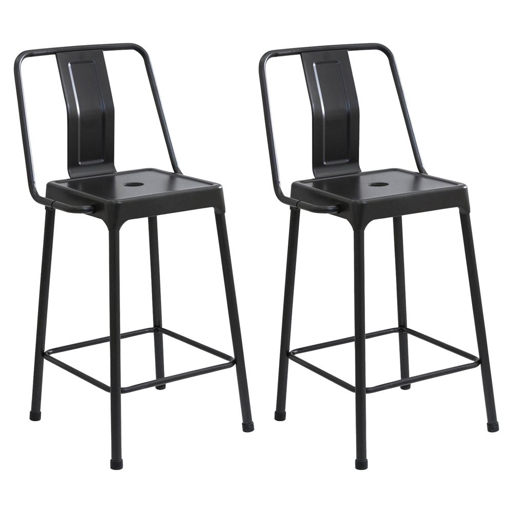 Energy Counter Stool Carbon Black Set Of 2 Dcg Stores