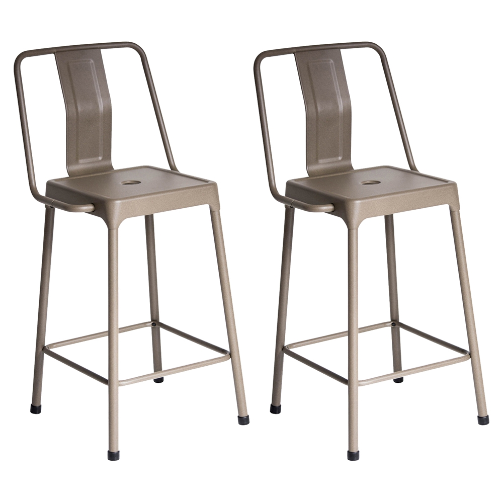 Energy Counter Stool Cappuccino Set Of 2 Dcg Stores