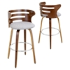Cosini Counter Stool - Swivel, Height Adjustable - LMS-CS-COSNI-WL-GY