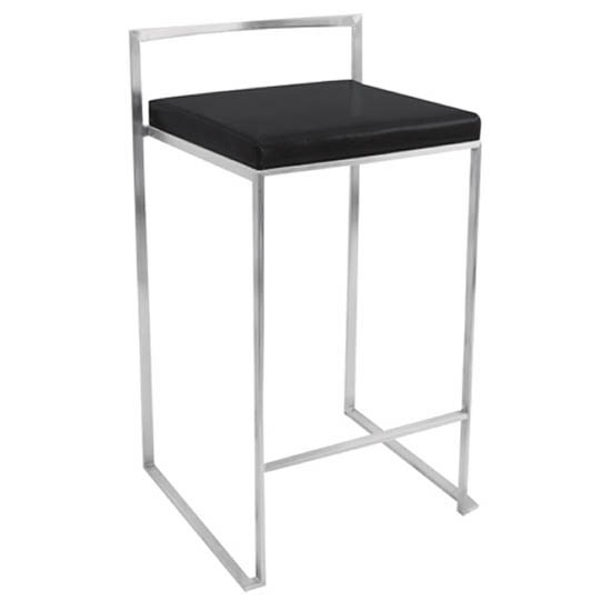 Fuji Modern Stackable Counter Stool (Set of 2)