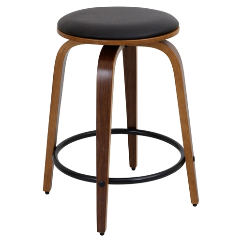 Porto Counter Stool Swivel Walnut Brown Set Of 2 Dcg Stores