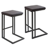 Roman Counter Stool - Espresso, Antique Frame (Set of 2) - LMS-CS-RMN-AN-E2
