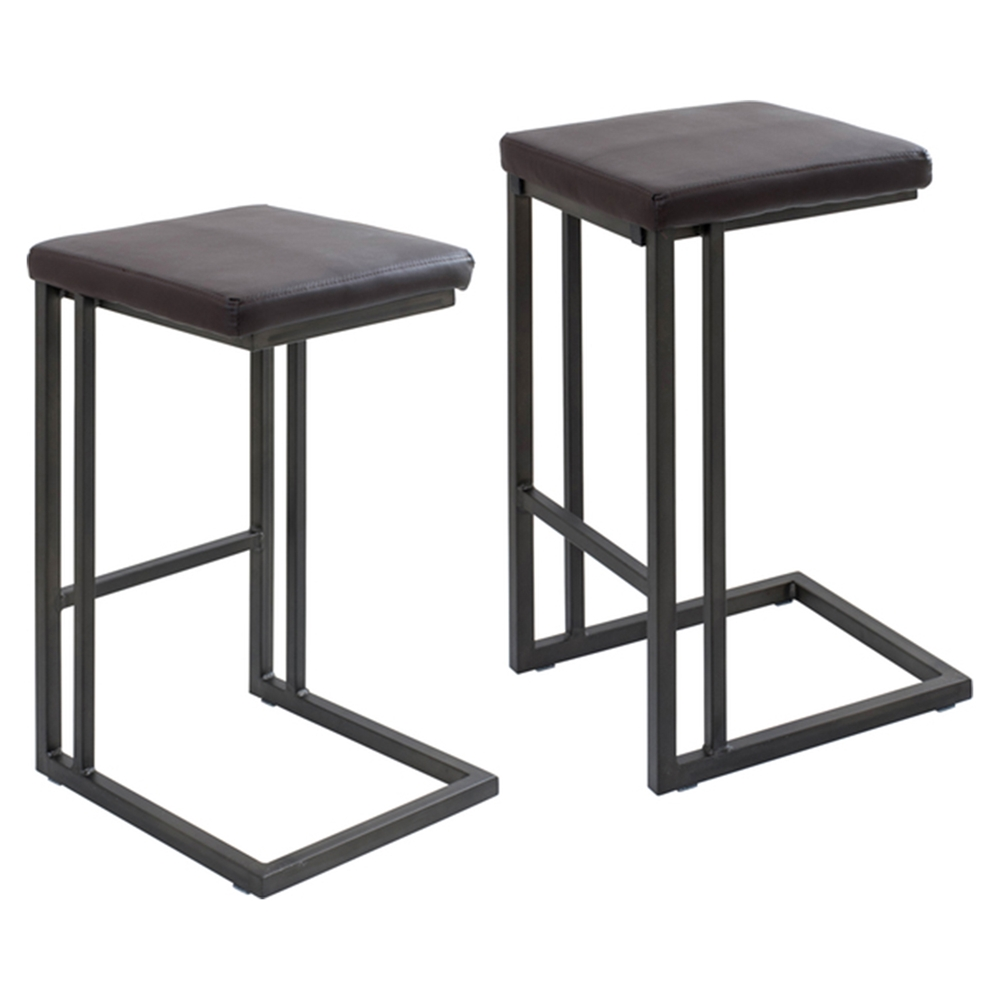 Roman Counter Stool Espresso Antique Frame Set Of 2 Dcg Stores
