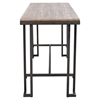 Roman Counter Table - Wooden Top, Antique Frame - LMS-CT-RMN-AN-BN