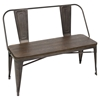 Oregon Dining Bench - Antique, Espresso - LMS-DC-TW-OR-BENCH