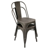 Oregon Stackable Dining Chair - Antique, Espresso (Set of 2) - LMS-DC-TW-OR-DKESP2