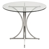 Boro Round Dining Table - Pedestal Base - LMS-DT-BORO-CL-BSS
