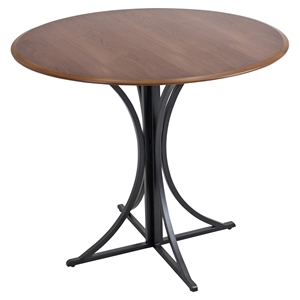 Boro Round Dining Table - Pedestal Base, Walnut