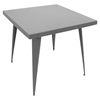 Austin Square Dining Table - Matte Gray - LMS-DT-TW-AU3232-GY