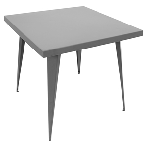 Austin Square Dining Table - Matte Gray