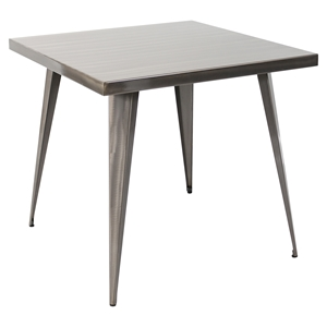 Austin Square Dining Table - Brushed Silver