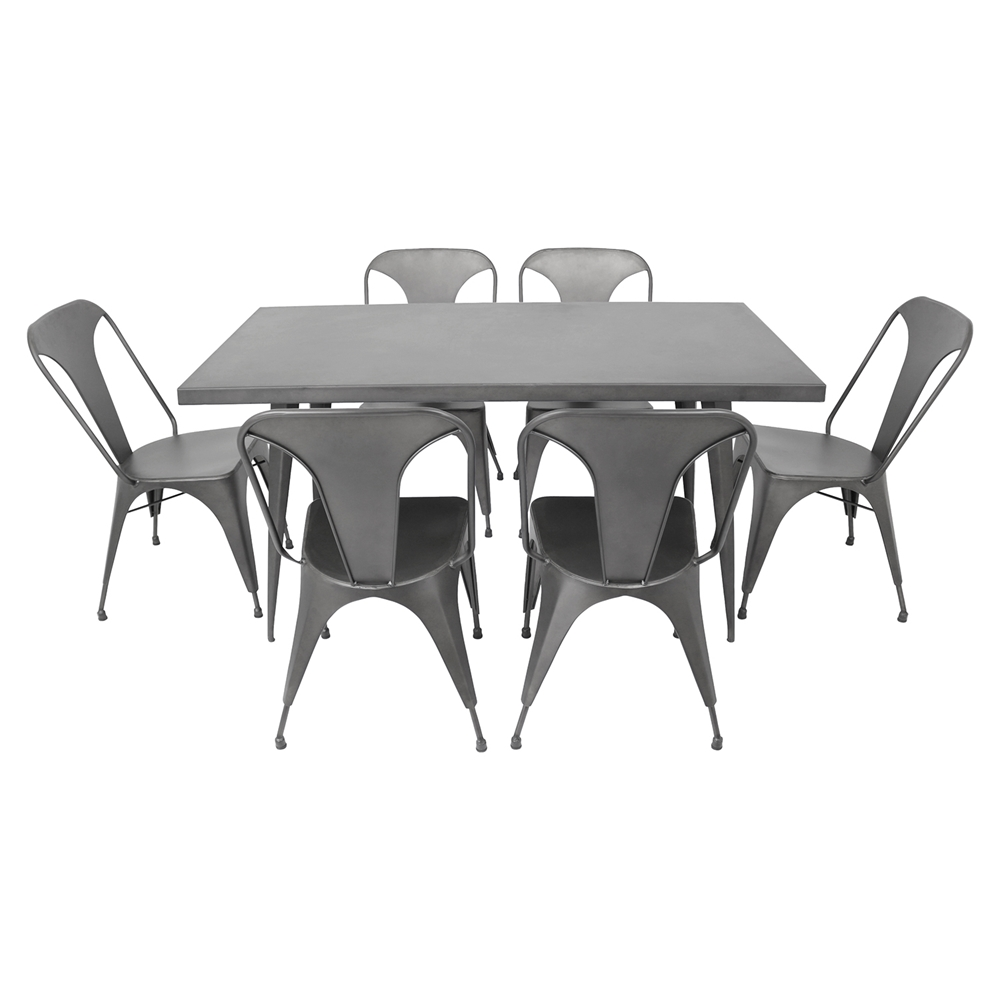 Austin Rectangular Dining Table - Matte Gray