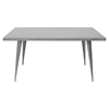 Austin Rectangular Dining Table - Matte Gray - LMS-DT-TW-AU6032-GY