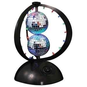 Disco Planet Light with 2 Mirror Balls