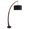 Noah Floor Lamp - Walnut, Black