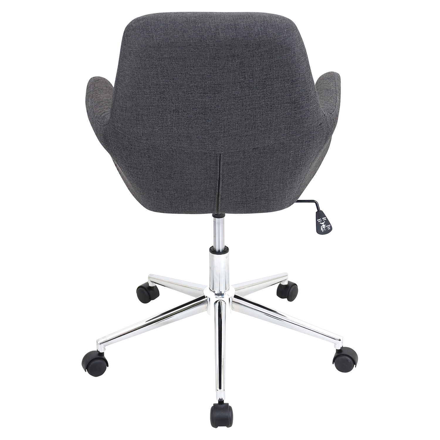 Degree Height Adjustable Office Chair - Swivel, Brown - LMS-OFC-AC-DGR-GY
