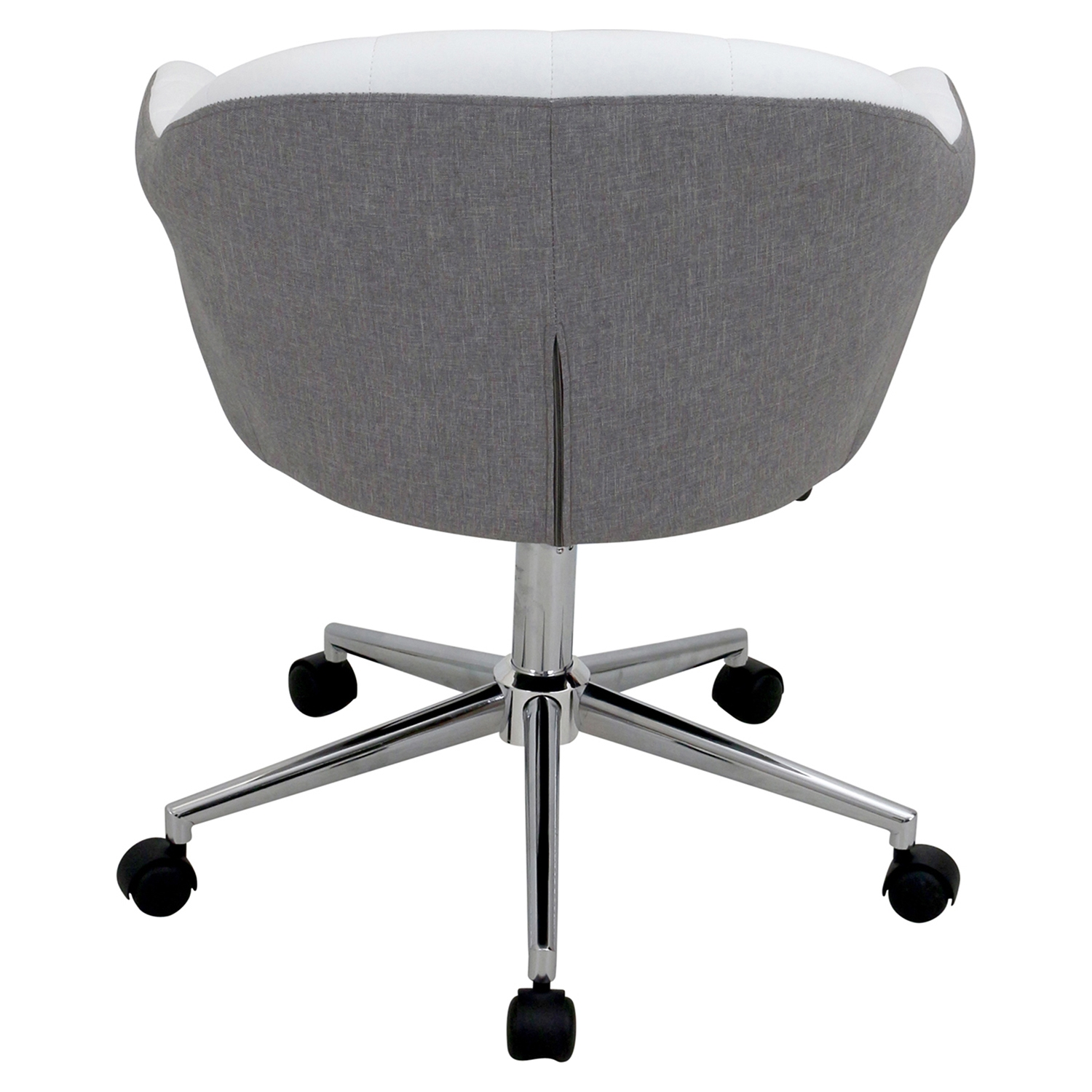Shelton Office Chair - Gray, White - LMS-OFC-AC-SHL-GYW