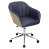 Shelton Office Chair - Tan, Navy - LMS-OFC-AC-SHL-TNB