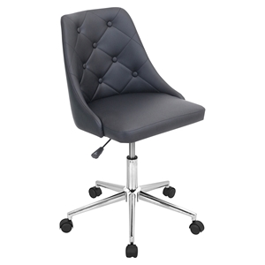 Marche Height Adjustable Office Chair - Swivel, Black