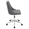 Marche Height Adjustable Office Chair - Swivel, Gray - LMS-OFC-MARCHE-GY