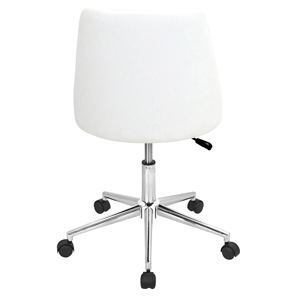 Marche Height Adjustable Office Chair Swivel White