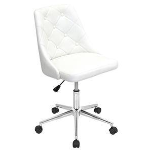 Marche Height Adjustable Office Chair - Swivel, White