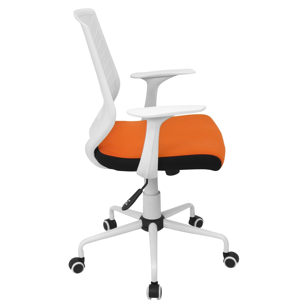 Network Height Adjustable Office Chair Swivel White