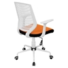 Network Height Adjustable Office Chair - Swivel, White, Orange - LMS-OFC-NET-W-O