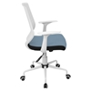 Network Height Adjustable Office Chair - Swivel, White, Smoked Blue - LMS-OFC-NET-W-SMBU