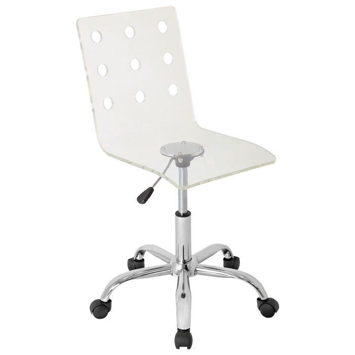 Swiss Clear Acrylic Office Chair  sc 1 st  DCG Stores : acrylic desk chairs - Cheerinfomania.Com