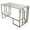 Mandarin Rectangular Office Desk - Clear - LMS-OFD-MNDR-CL