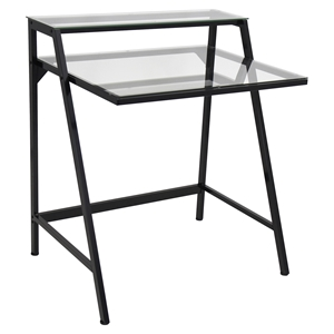 2-Tier Black Office Desk