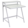 2-Tier White Office Desk - LMS-OFD-TM-2TIER-W