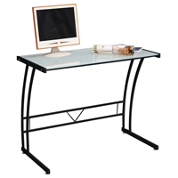 Sigma Modern Workstation with Glass Top