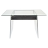 Glacier Rectangular Office Desk - Clear - LMS-OFD-TM-GLACE
