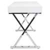 Luster Rectangular Office Desk - White - LMS-OFD-TM-LSTR-W