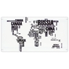 World Map Glass Top Office Desk - LMS-OFD-TM-PGWORLD