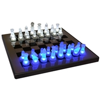 Chess Board with Glowing Pieces