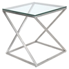 4Z Square End Table - Clear - LMS-TB-CT4Z-SS