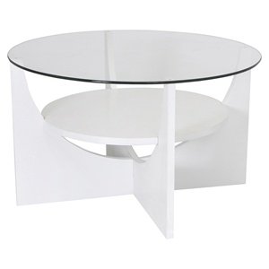 U Shaped Coffee Table - White