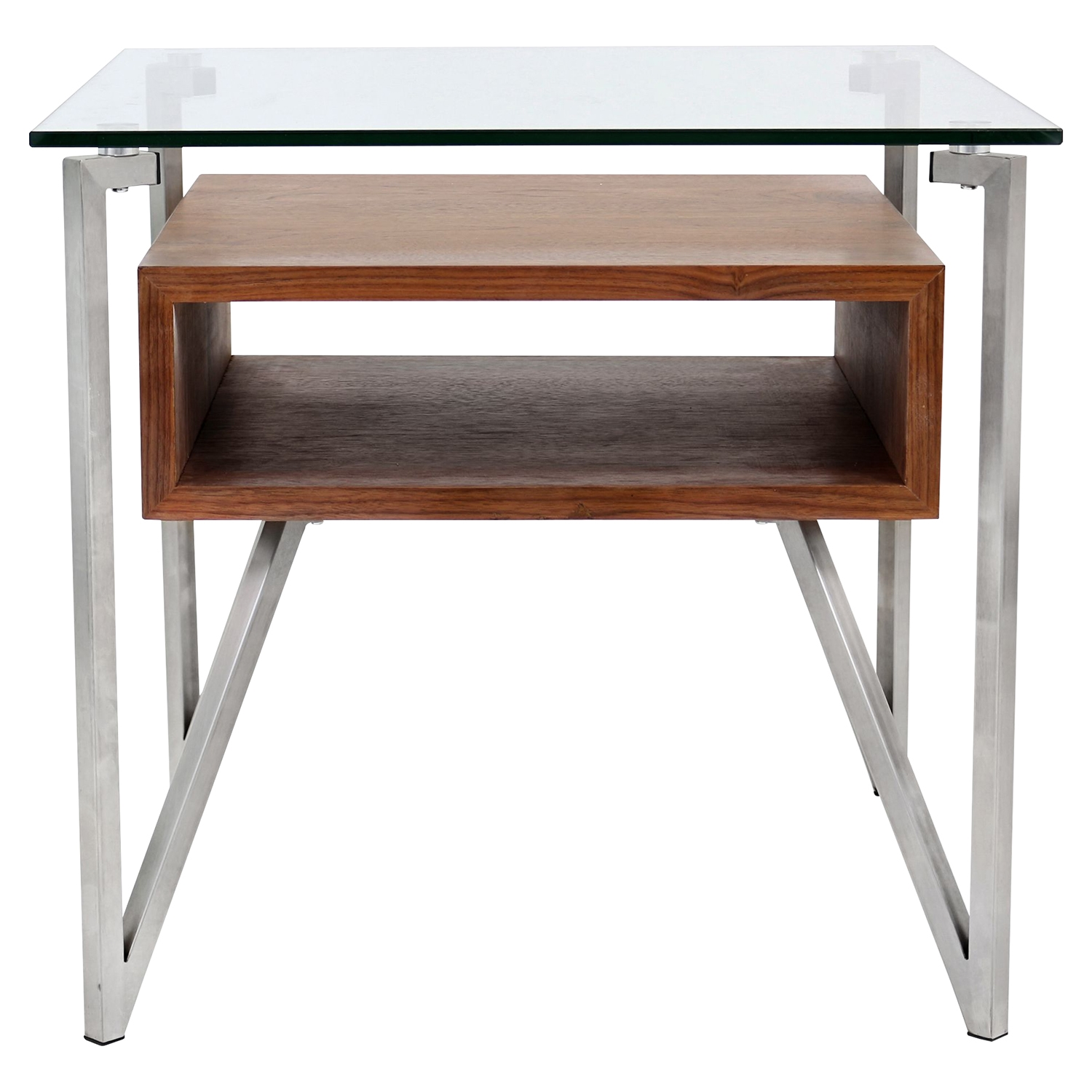 Hover Square End Table - Walnut - LMS-TB-HVR-ET-WL